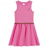 Vestido Rosa Infantil Menina Boca Grande 41931