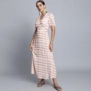 Vestido Tecido Rayon Bali Midi Vichy Lez  a Lez 2342L