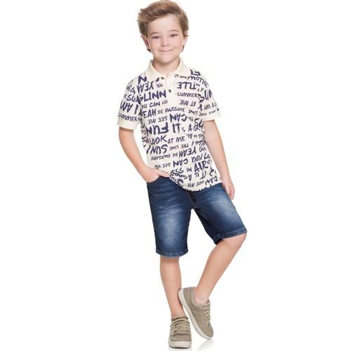 Bermuda Jeans Infantil Masculino Boca Grande BG/G32046