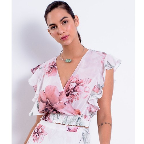 Blusa Feminina Richini Cropped Estampada 32567