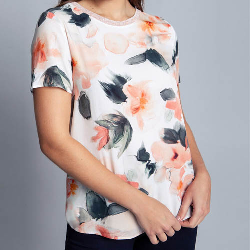 Blusa Feminina Tecido Rayon Bali Ornamental Lez a Lez