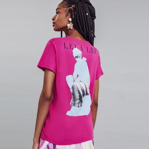 Blusa Meia Malha Forty T-shirt Feminina Lez a Lez 2434L