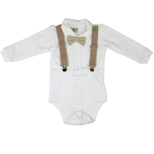 Body Com Suspensório Infantil Menino Kidin´s KD9239