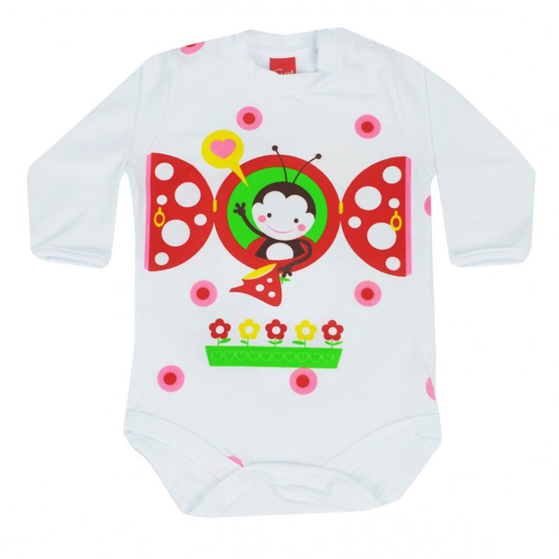 Body Infantil Feminino Abelhinha Get Baby GB121.170*