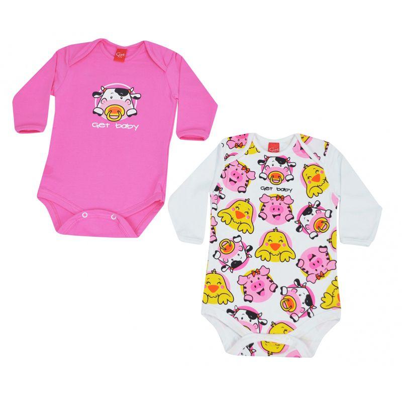 Body Infantil Feminino Kit 2 Peças Get Baby GB421.039*