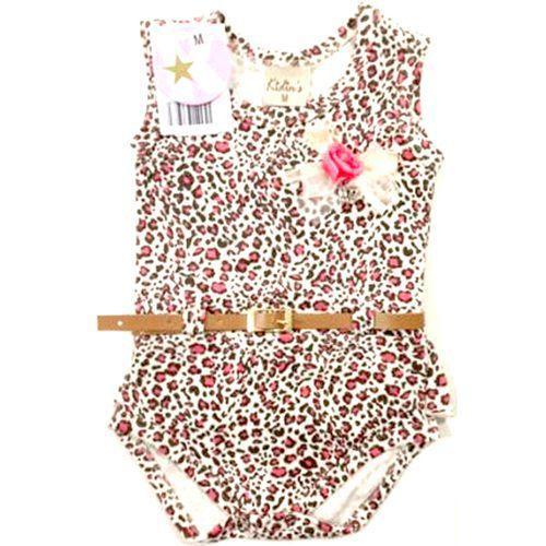 Body Infantil Feminino Oncinha Kidin?s KD9017*