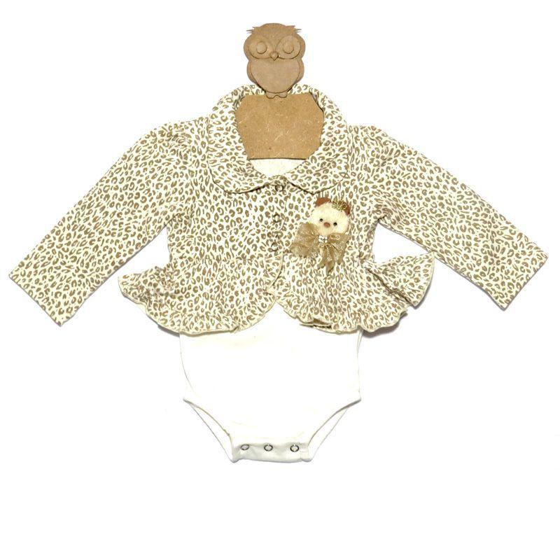 Body Infantil Feminino Oncinha Kidin´s KD9207*