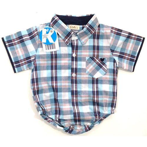 Body Infantil Masculino Camisa Kidin´s KD9011*