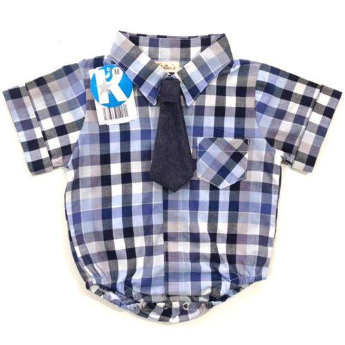 Body Infantil Masculino Camisa Kidin´s KD9012*