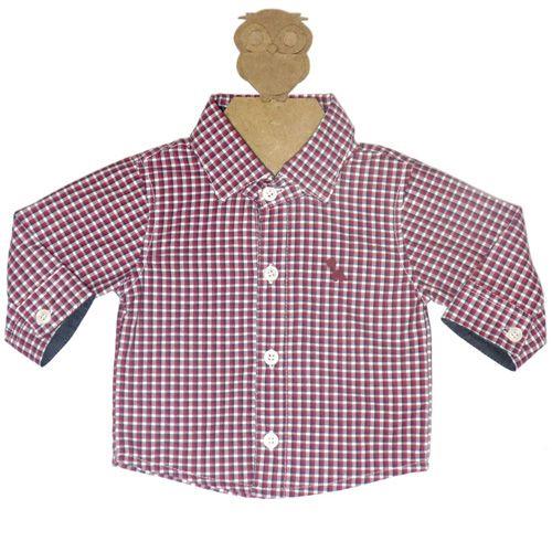 Body Infantil Masculino Camisa Xadrez Kidin´s KD8103