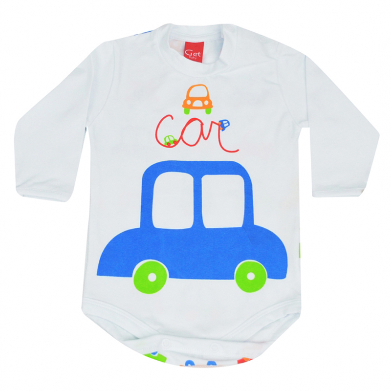 Body Infantil Masculino Carro Get Baby