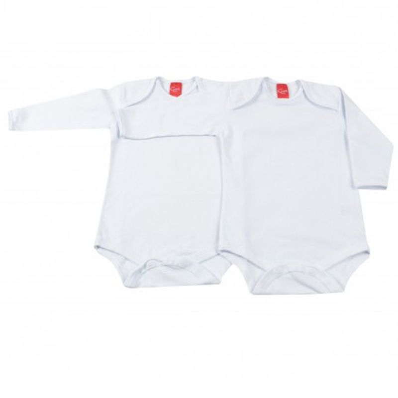 Body Infantil Unissex Kit 2 Peças Branco Get Baby GB421.029*