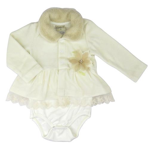 Body Plush Bebê Menina Manga Longa Kidin´s 9240