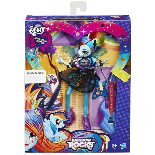 Boneca Equestria Girls Cabelos Estilosos - Rainbow Dash Hasbro