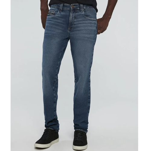 Calça Jeans Azul Escuro Slim Masculina 9N0Y291