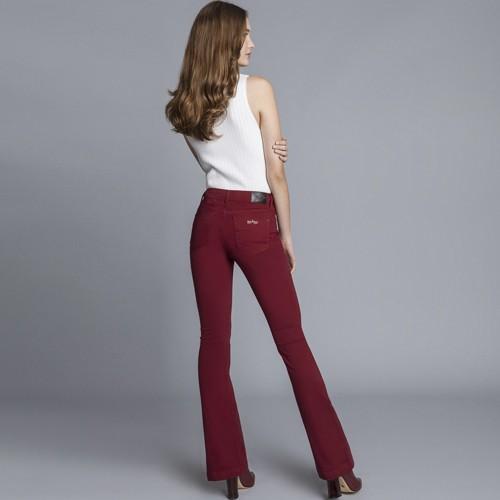 Calça Jeans Flare Malibu Every Day Bordo Helado Lez a Lez