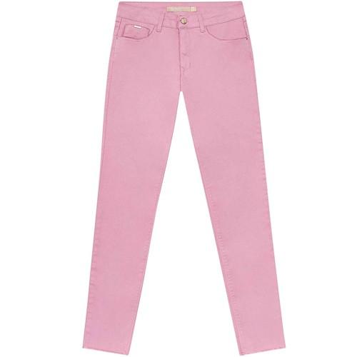 Calça Sarja Com Elastano Cropped Bali Rosa Persefone Lez a Lez 2215