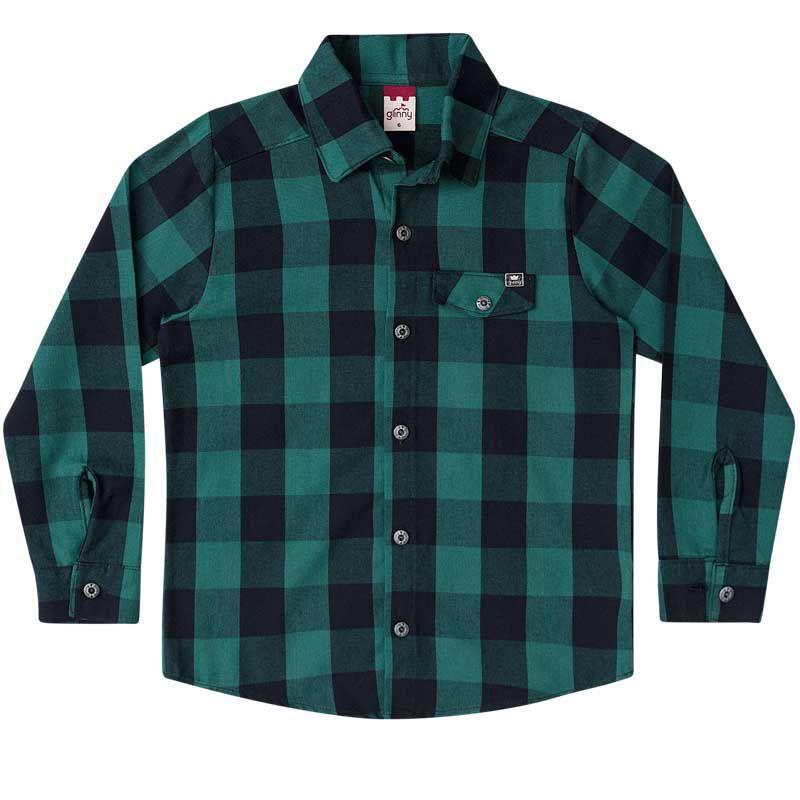 Camisa Infantil Masculina Flanela Xadrez BG32054*