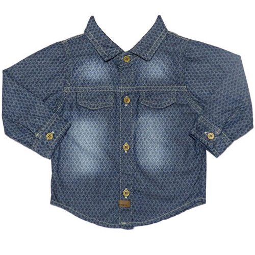 Camisa Jeans Infantil Masculina Kidin´s KD8101