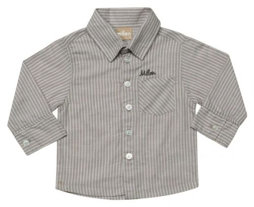 Camisa Masculina Infantil Manga Longa ML3255*