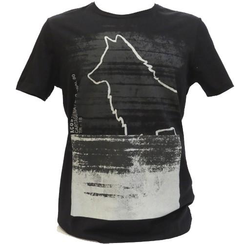 Camiseta Acostamento Estampada Masculina Manga Curta -