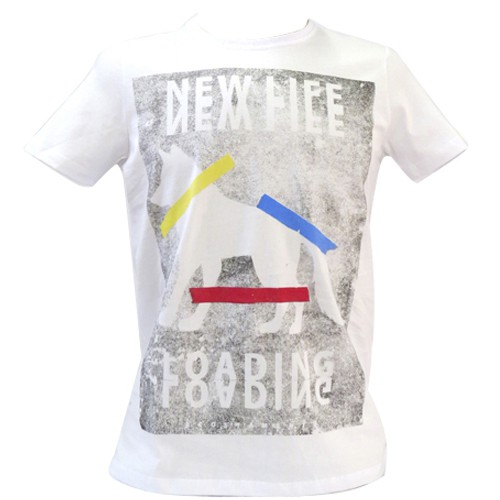 Camiseta Acostamento Masculina Branca Manga Curta