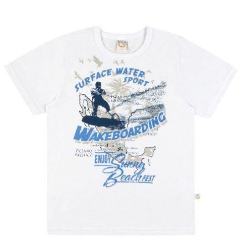 Camiseta Básica Infantil Menino Boca Grande BG43398*