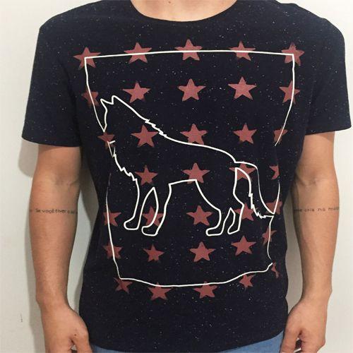 Camiseta Estampada com Logo