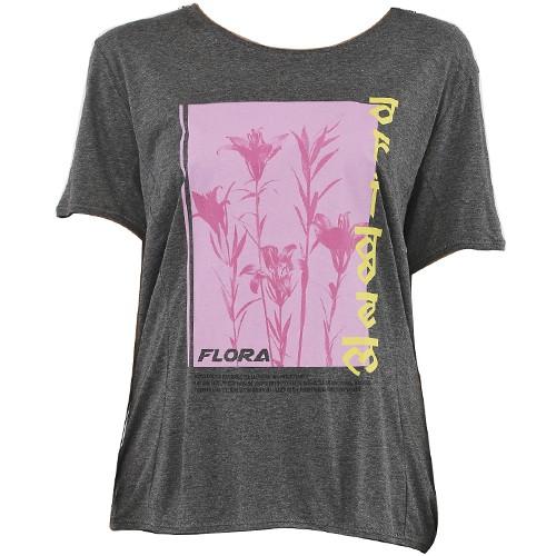 Camiseta Forum Flora Grafite Feminina Manga Curta 02038