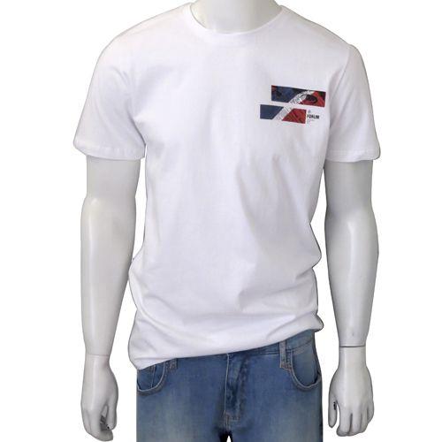 Camiseta Forum Masculina Estampada Branca