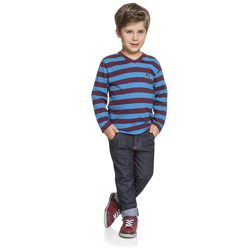 Camiseta Infantil Masculina Manga Longa Boca Grande BG45759