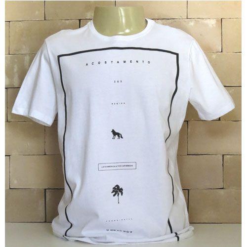 Camiseta Masculina Manga Curta Acostamento