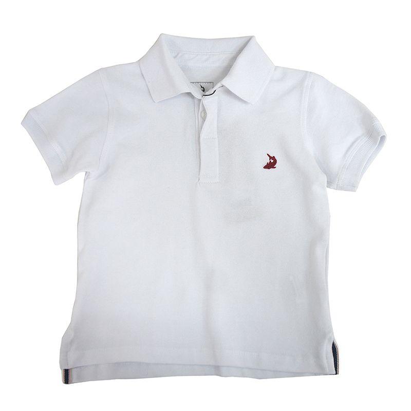 Camiseta Polo Básica Infantil Menino Branca Squalo S03080058*