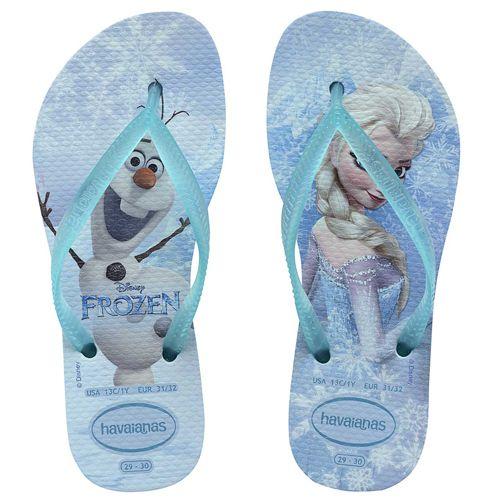 Chinelo Infantil Feminino Kids Slim Frozen H4132925*