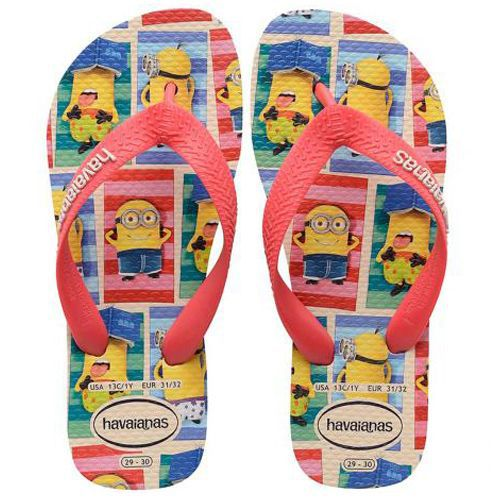 Chinelo Infantil Masculino Minions Kids Havaianas Bege H4133126B*