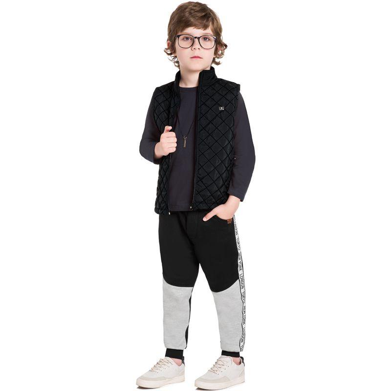 Colete Infantil Masculino Matelassê com Forro em Pêlo BG/G32069*