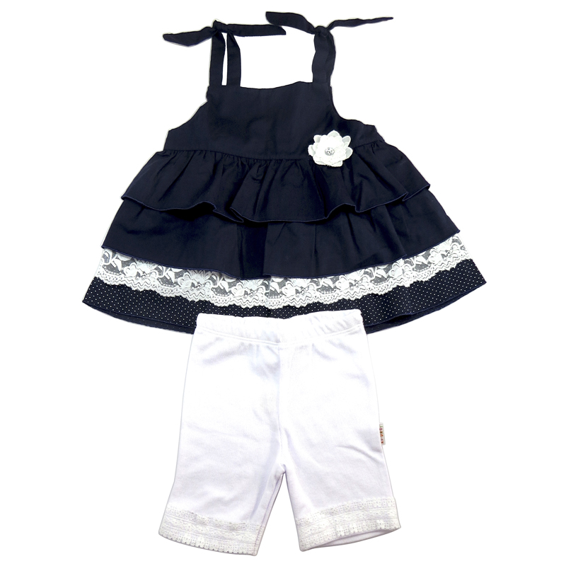 Conjunto Bata e Bermuda Infantil Menina Ki-Baby KB659