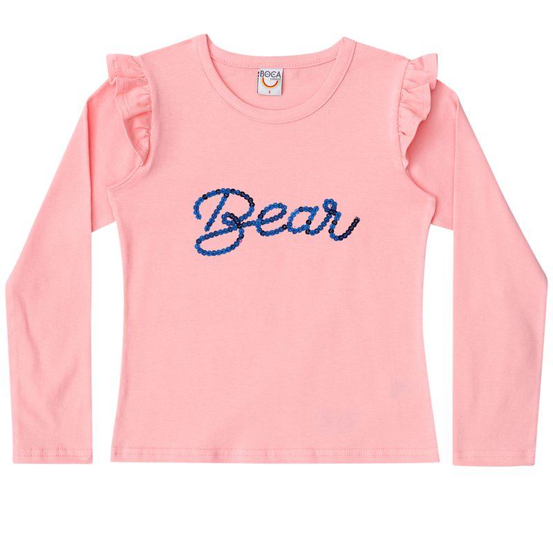 Conjunto Infantil Feminino Baby Look e Saia BG42443