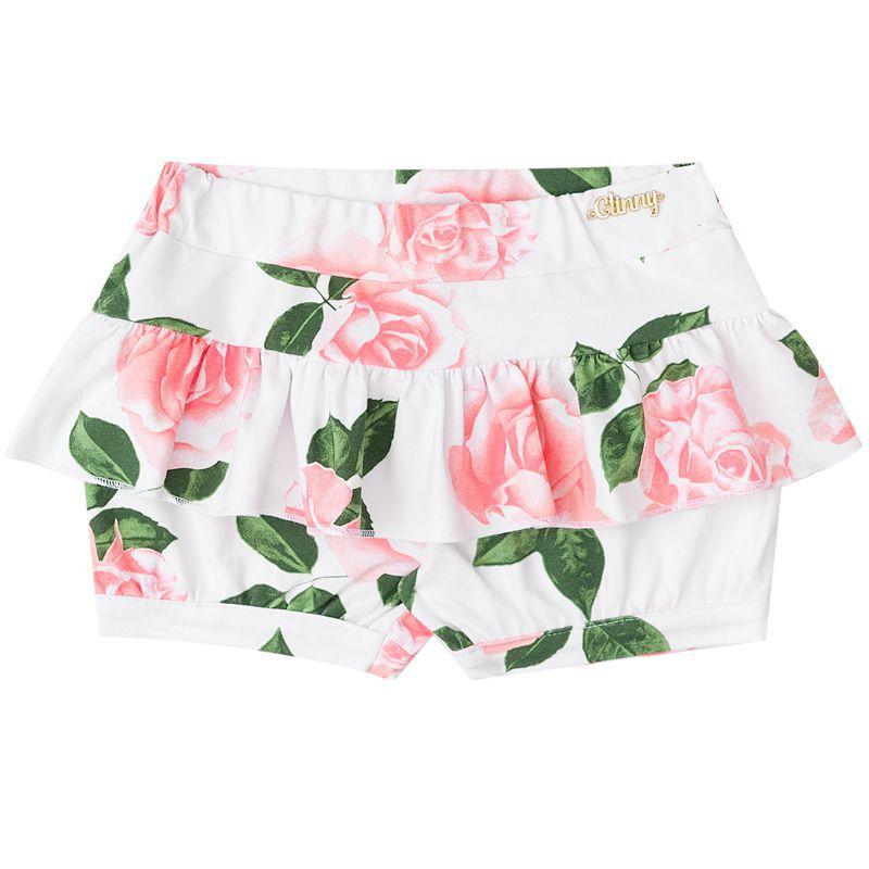 Conjunto Infantil Feminino Baby Look E Shorts BG/G21048