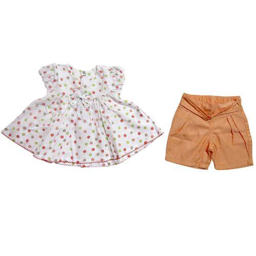 Conjunto Infantil Feminino Bata e Bermuda Ki-Baby KB937*
