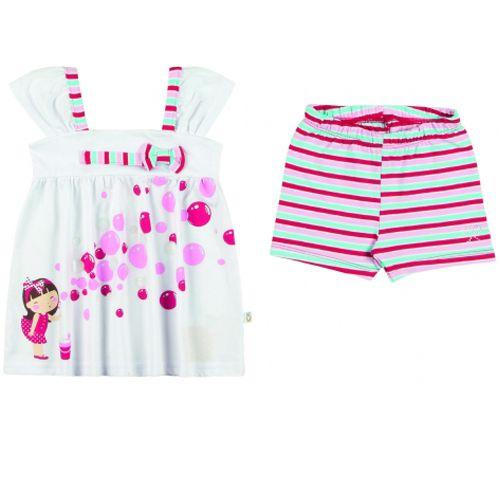 Conjunto Infantil Feminino Bata e Shorts Boca Grande BG17248*