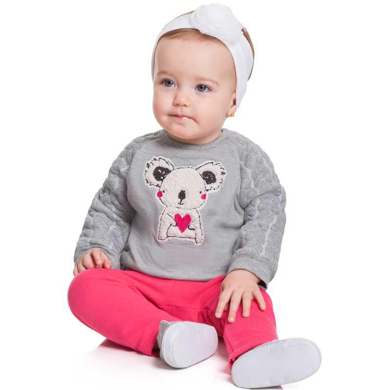 Conjunto Infantil Feminino Bebê Blusão e Legging BG12539*