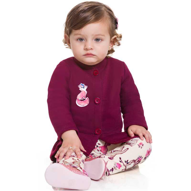 Conjunto Infantil Feminino Bebê Casaco e Legging BG12536*