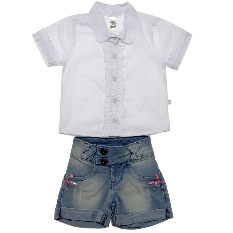 Conjunto Infantil Feminino Camisa e Shorts CC1566*