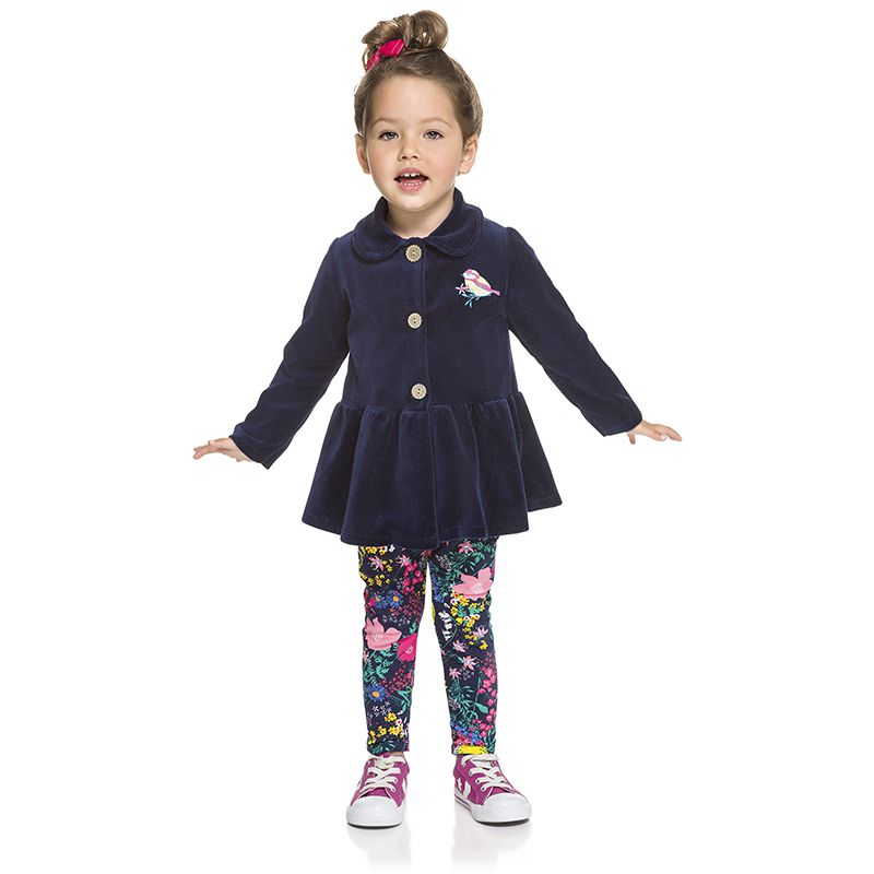 Conjunto Infantil Feminino Casaco e Legging BG13529