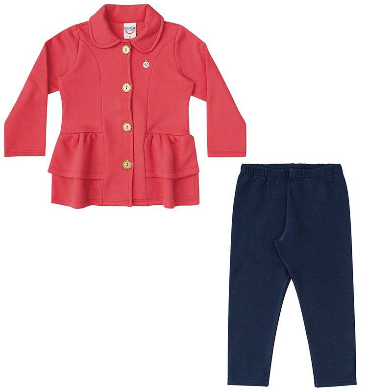 Conjunto Infantil Feminino Casaco e Legging BG13546