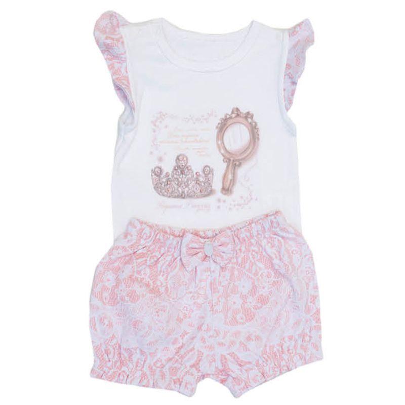 Conjunto Infantil Feminino Princesa Bebê Grow Up GU04080055*