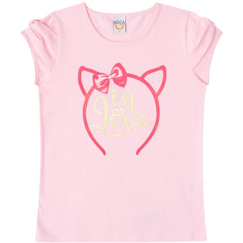 Conjunto Infantil Feminino Boca Grande T-Shirt e Shorts BG42377