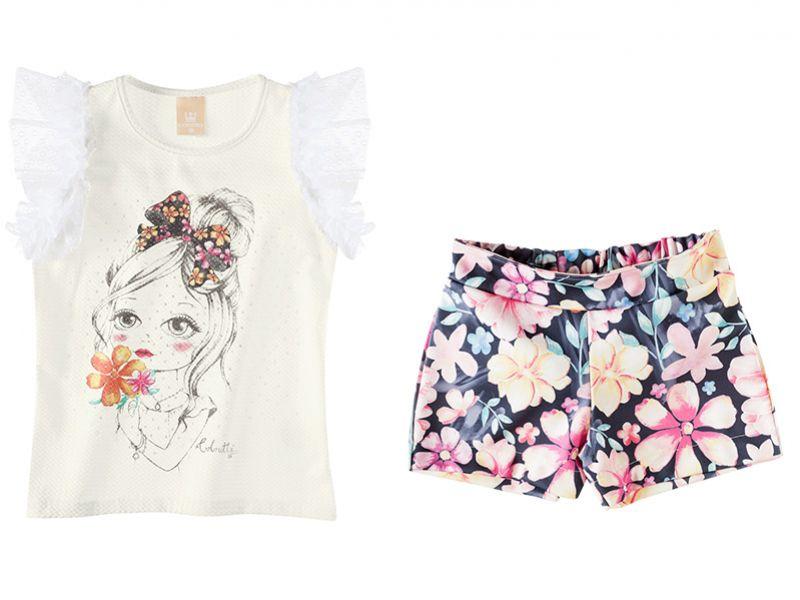Conjunto Infantil Feminino Verão Colorittá C17596*