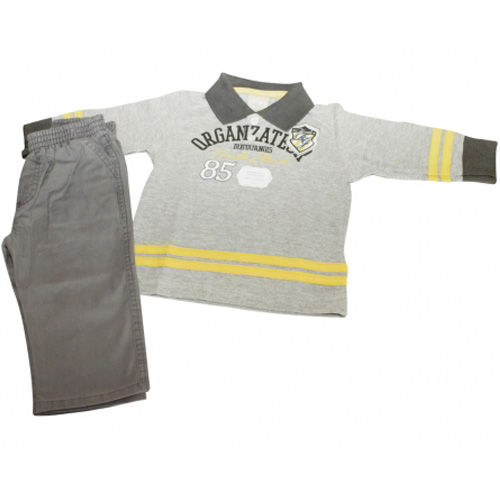 Conjunto Infantil Masculino Camisa Polo e Calça Milon 3267